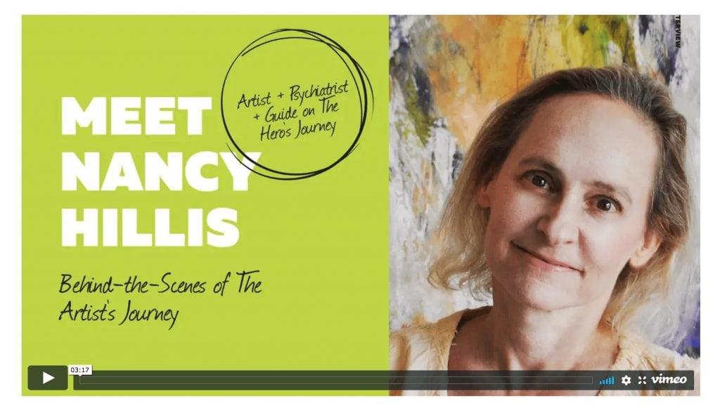 Nancy Hillis-Behind the scenes-The Artist's Journey