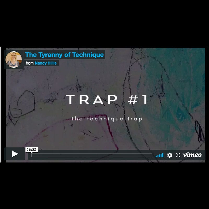 The Tyranny of Technique-Nancy Hillis | Scroll through to see the video training. #abstractpainting