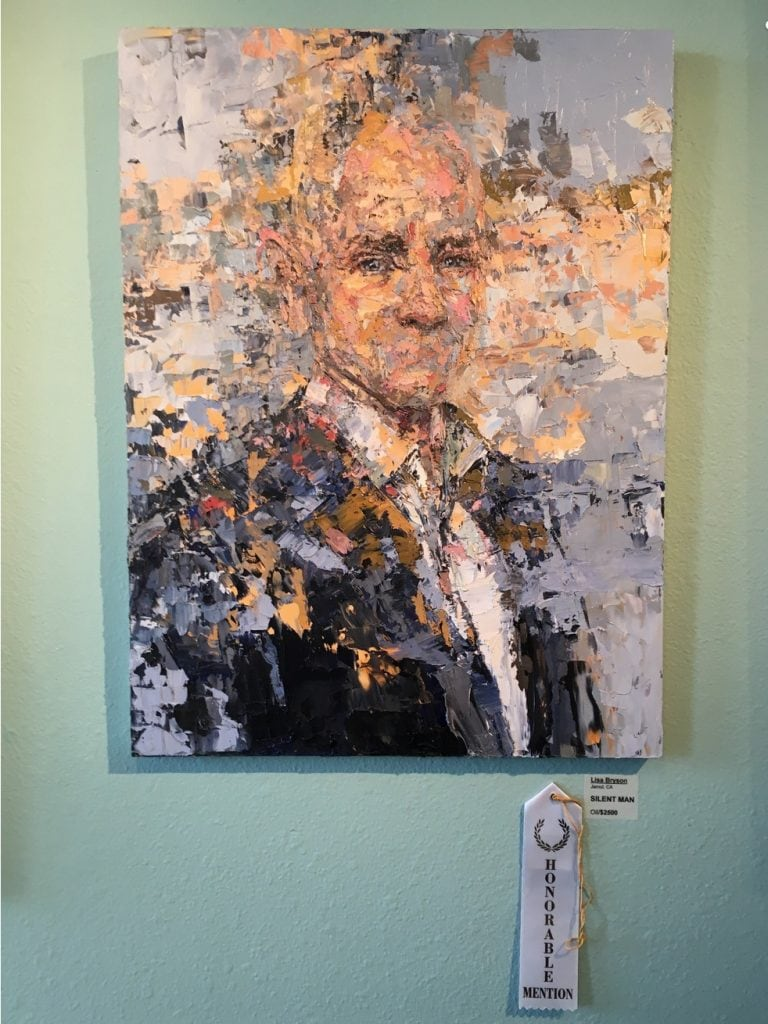 """Lisa Bryson """"Silent Man"""". Honorable Mention. Front Porch Gallery Annual Exhibition. Juror Nancy Hillis, MD."""