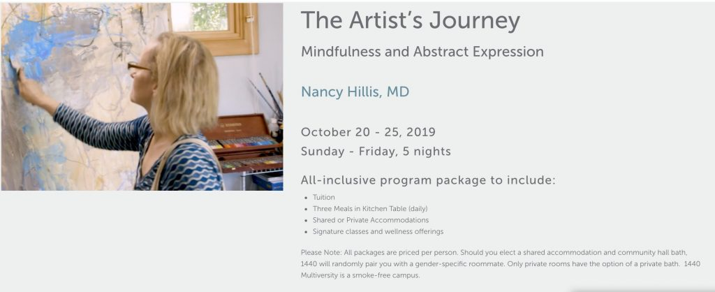 Nancy Hillis-The Artists Journey Live Abstract Painting Workshop-1440 Multiversity #creativity #mindfulness #abstract