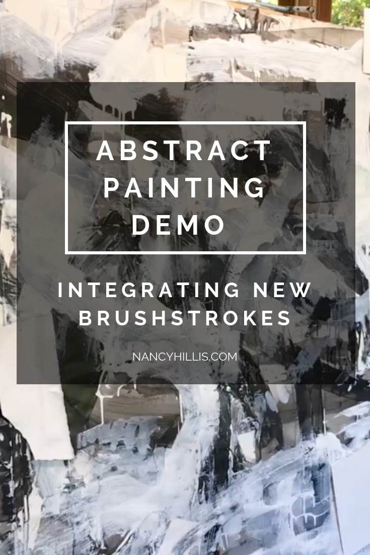 Abstract Painting Demo: Integrating New Brushstrokes