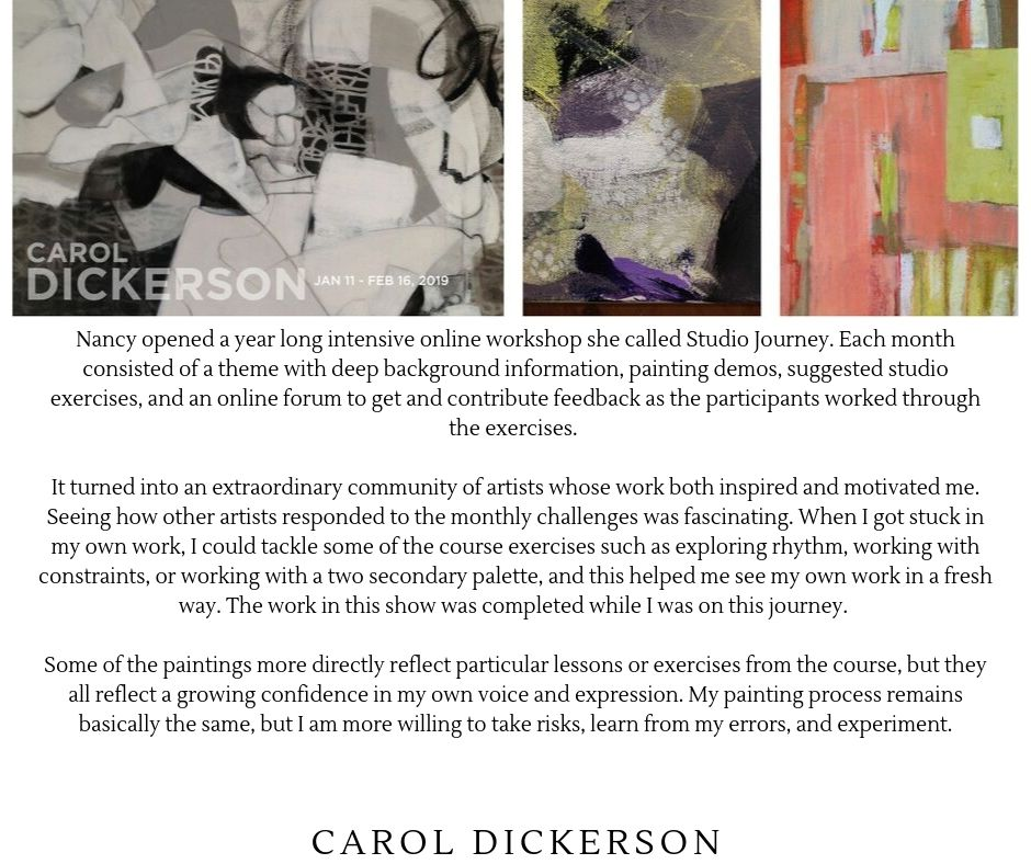 Carol Dickerson-Artist and Founding Member-Studio Journey Course