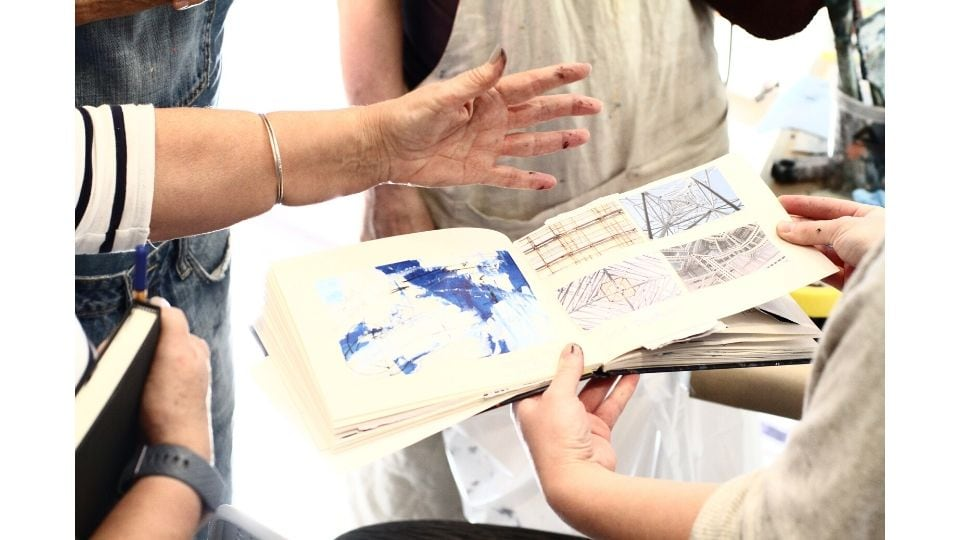 The Artists Journey Retreat- Lorraine Willis' amazing art journal