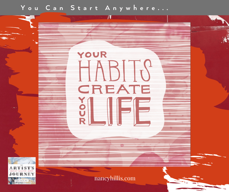 Say yes to your dreams- Your habits create your life- Nancy Hillis- The Artist's Journey Creativity Reflection Journal