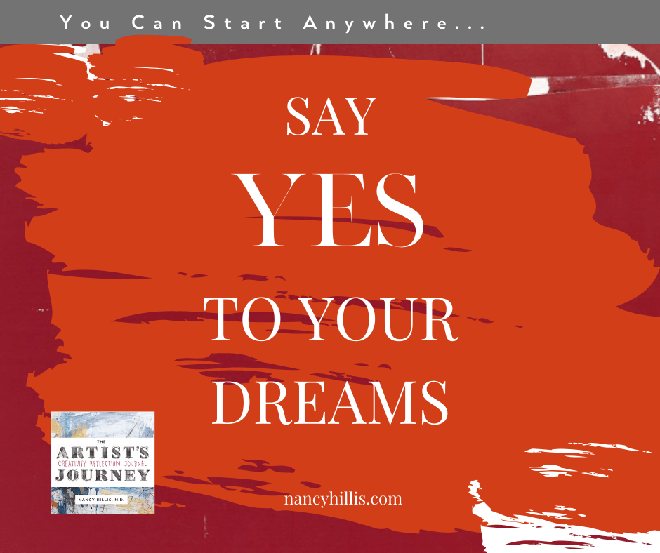 The Artist's Journey Creativity Reflection Journal- Say YES To Your Dreams