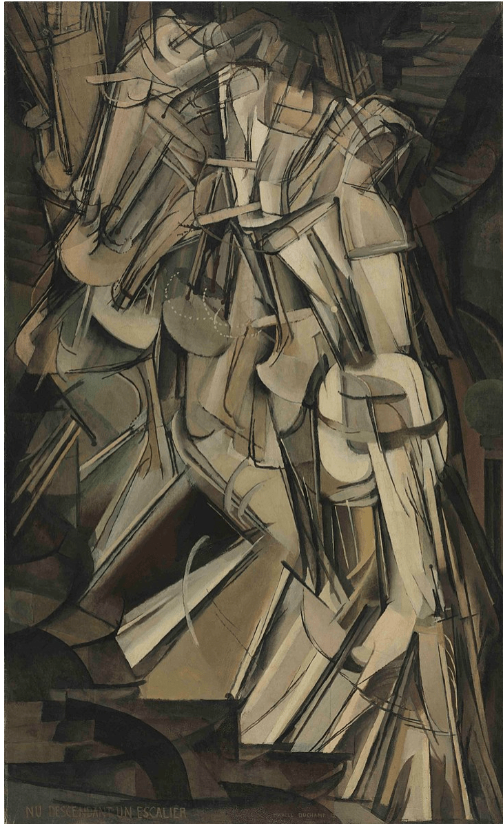 Nude Descending a Staircase-Marcel Duchamp